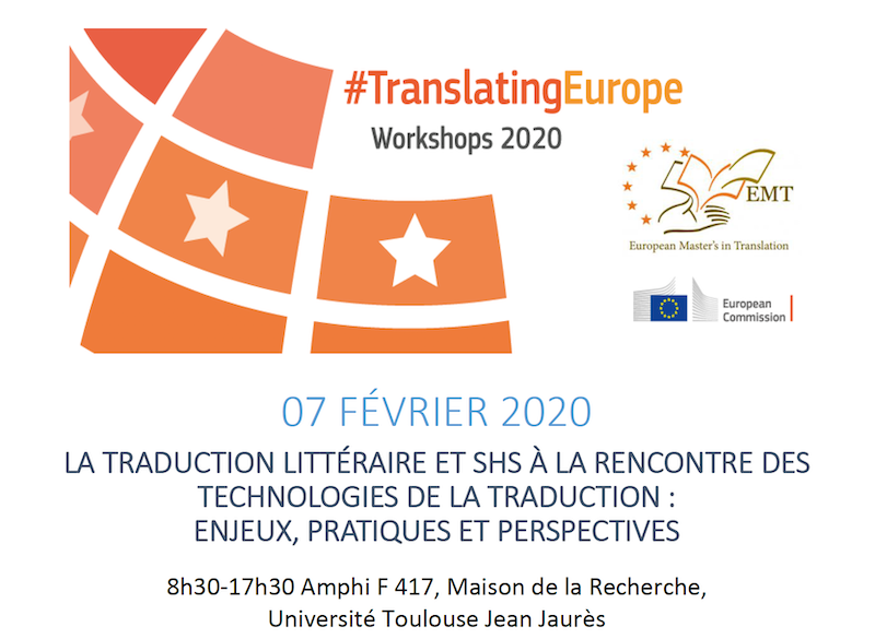 La traduction littéraire et Sciences Humaines et Sociales à la rencontre des nouvelles technologies de la traduction : enjeux, pratiques et perspectives